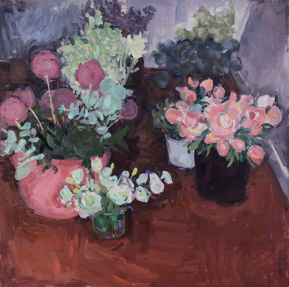 Title: Bunches Artist: Stacey Gledhill Medium: oil on cotton Size: 50cm x 50cm (unframed) Broth Art