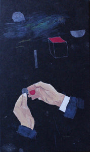 Hand Trick Red Coin by Sarah J. Stanley