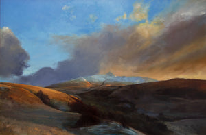 January light over Beinn Resipole by Andrew Sinclair, oil on linen 80 x 120 cm (landscape painting)