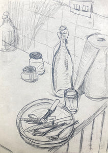 Title: Kitchen Sketch I Artist: Stacey Gledhill Medium: pencil on paper Size: 20cm x 15cm (unframed) Broth Art