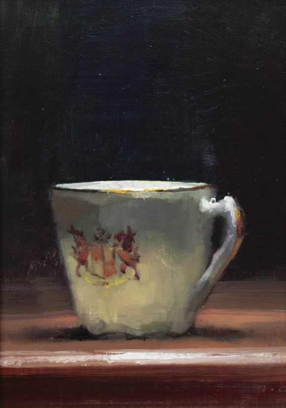 Title: Welsh Cup Artist: Andrew Sinclair Medum: Oil on board Size: 18 x 12 cm