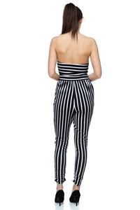 Stripe Tube Top Jumpsuit