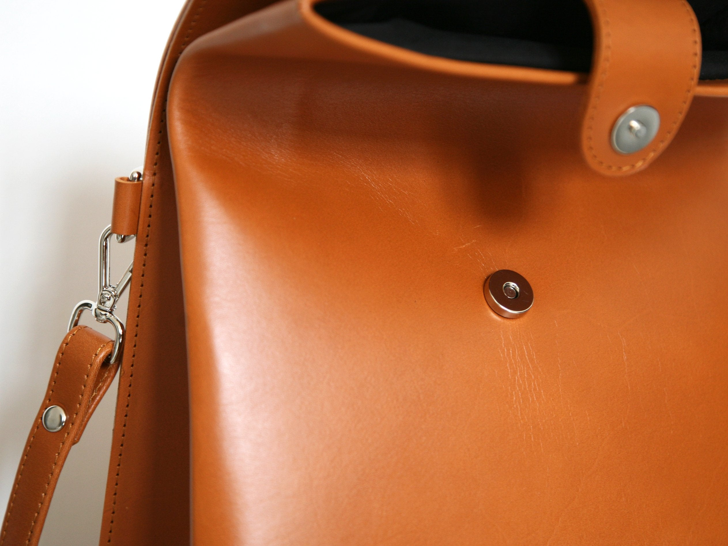 Paper Shoulder Bag Caramel