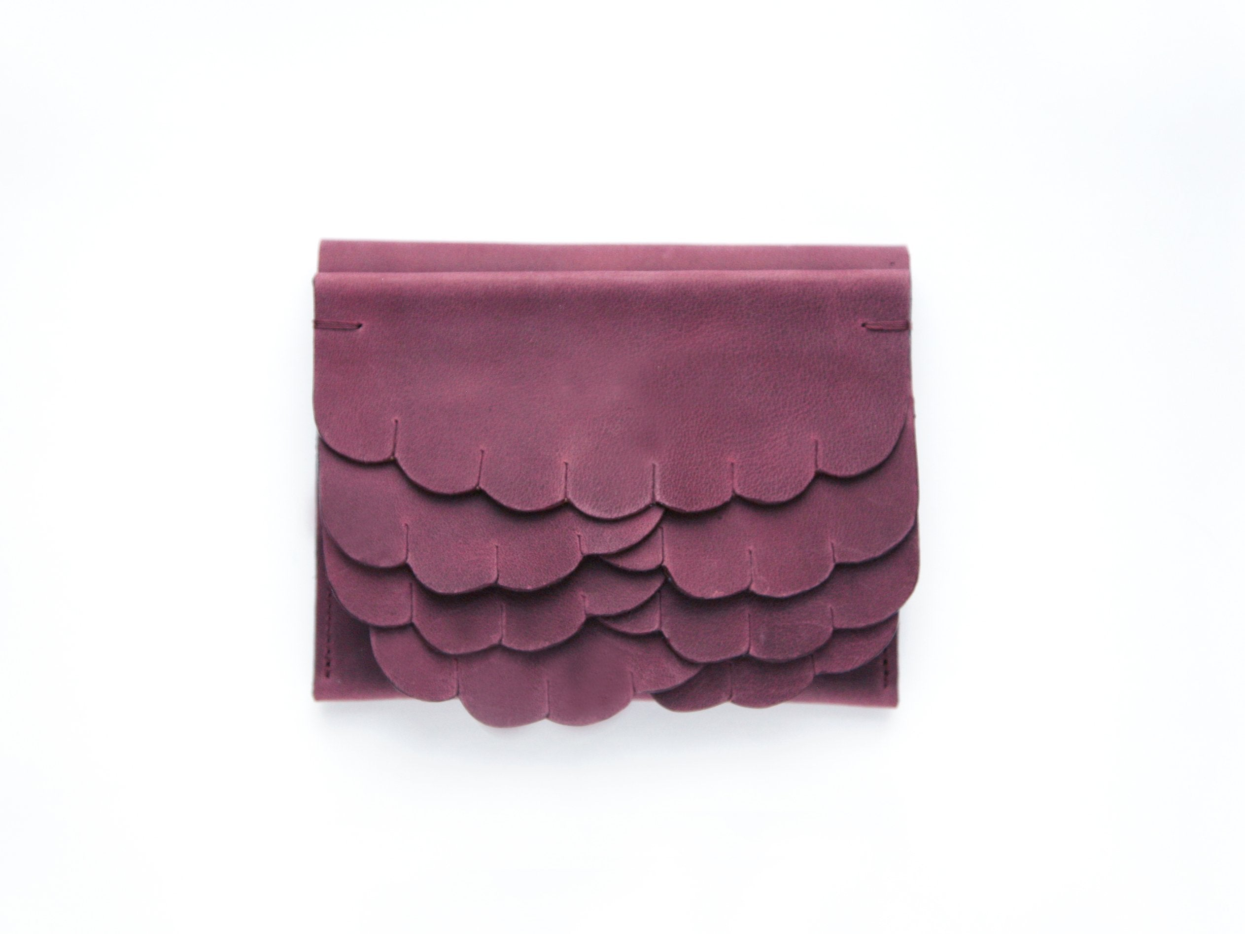 While wallet Plum