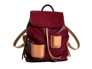 Pocket Backpack Burgundy