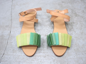 Rainbow Sandal Bright Green