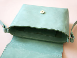 While Mini shoulder bag Aqua
