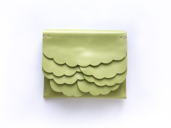 While wallet Pastel Green