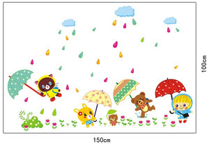 Raining Day Removable WallSticker