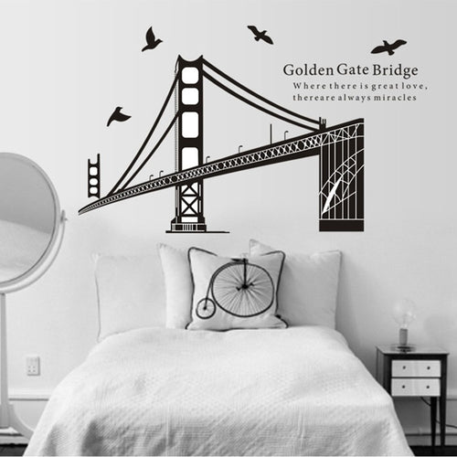 Golden Gate Bridge Black removable WallSticker