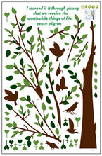 Load image into Gallery viewer, Green Tree and Birds removable WallSticker