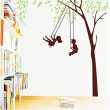 Load image into Gallery viewer, Kids Swing at Tree Removable Wallsticker