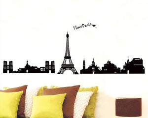 Paris Eiffel Tower Black and White Wallsticker