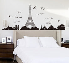 Load image into Gallery viewer, Paris Eiffel Tower Paper Plane Removable Wallsticker