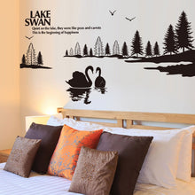 Load image into Gallery viewer, Swan Lake Removable Wallsticker