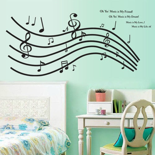 Music Score note removable WallSticker