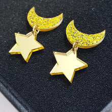 Load image into Gallery viewer, Sailormoon Star & Moon Earrings