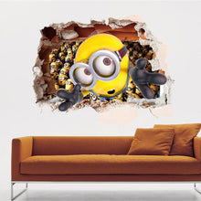 Load image into Gallery viewer, 3D Minions Smashed Wall Removable Wallsticker