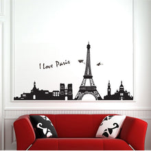 Load image into Gallery viewer, Paris Eiffel Tower Black and White Wallsticker
