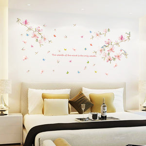 Pink Magnolia removable WallSticker