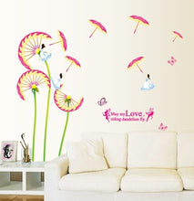 Load image into Gallery viewer, Umbrella Dandelion Fairy removable Wallsticker