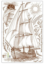 Load image into Gallery viewer, Sailboat Sketch removable WallSticker