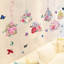 Load image into Gallery viewer, Flower Cages Removable Wallsticker