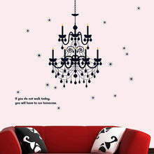Load image into Gallery viewer, Black Candle Chandelier Removable Wallsticker