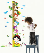 Load image into Gallery viewer, Snow White Height Measure Removable Wallsticker