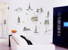 Load image into Gallery viewer, Europe Landmarks Removable Wallsticker
