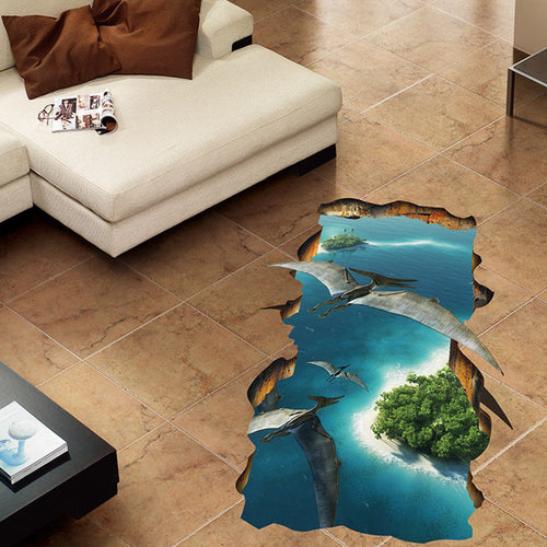 3D Flying Dragon Removable Wallsticker / Floorsticker