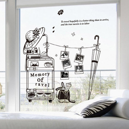 Memory of Travel Photo Frame removable WallSticker