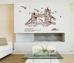 Meteor London Bridge Sketch removable WallSticker