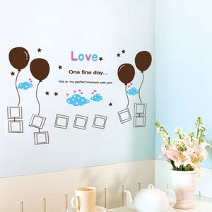 Balloon Photo Frame Removable WallSticker