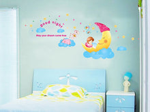 Load image into Gallery viewer, Sleeping Moon Removable Wallsticker