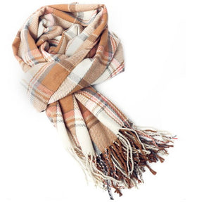 Brown & Coffee Plaid Scarf