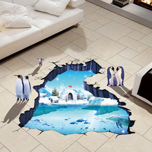 Load image into Gallery viewer, 3D Penguin Glacier Removable Wallsticker