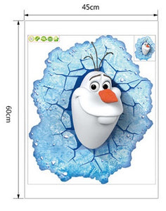 Disney Frozen Olaf Smashed Wall Removable Wallsticker