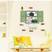Load image into Gallery viewer, Window Couple Cats Removable Wallsticker