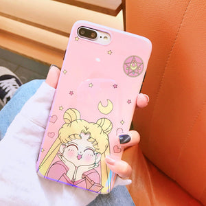 Smile Sailormoon Pink Iphone Case6/6plus7/8/7plus/8plus/X/XR /XS MAX