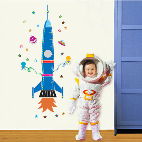 Rocket Height Measure Removable Wallsticker