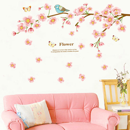 Plum Blossom & Bird removable WallSticker