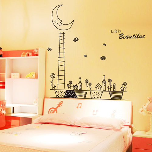 Ladder of Moon Removable Wallsticker