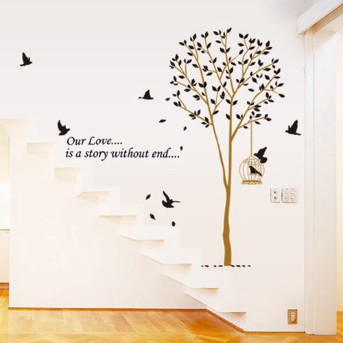 Love Tree with Birdcage removable WallSticker