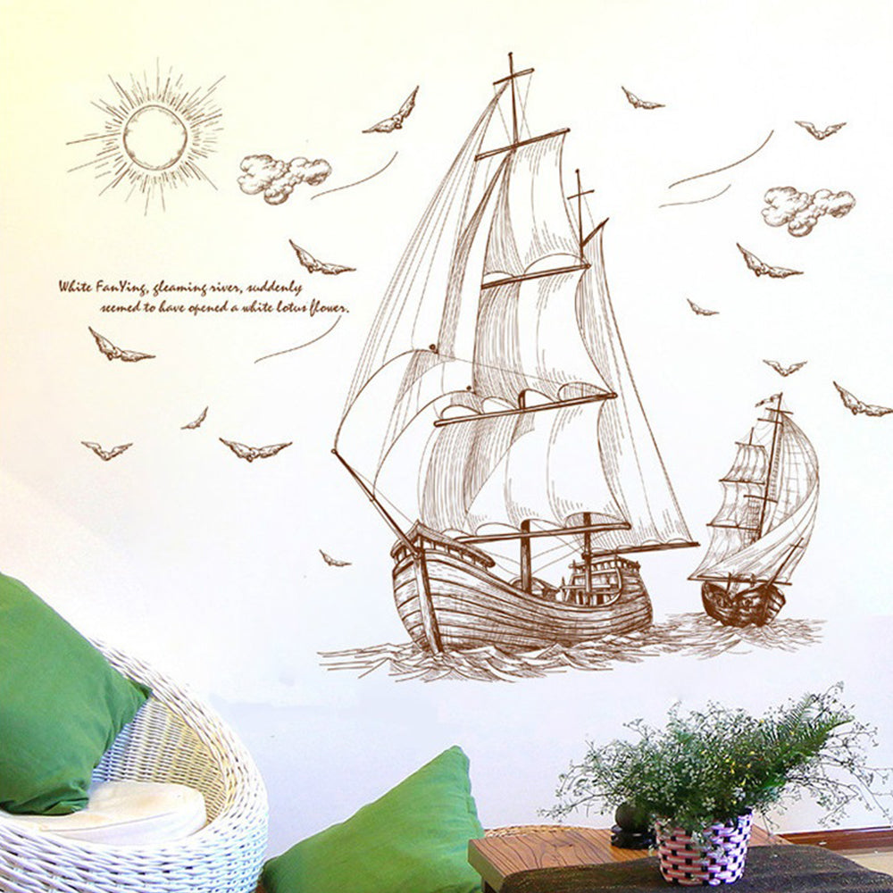 Sailboat Sketch removable WallSticker
