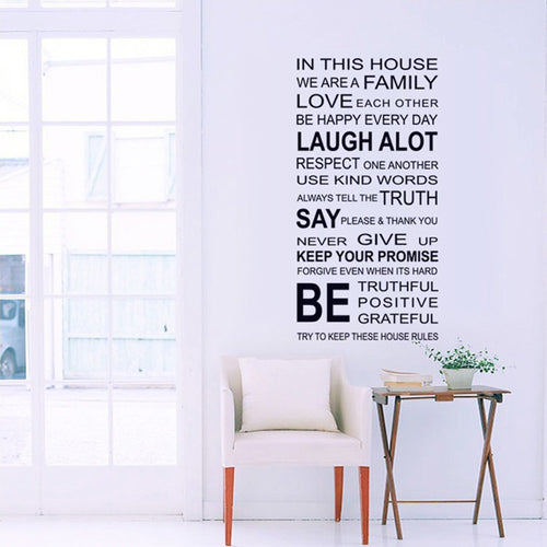 House Rules removable WallSticker