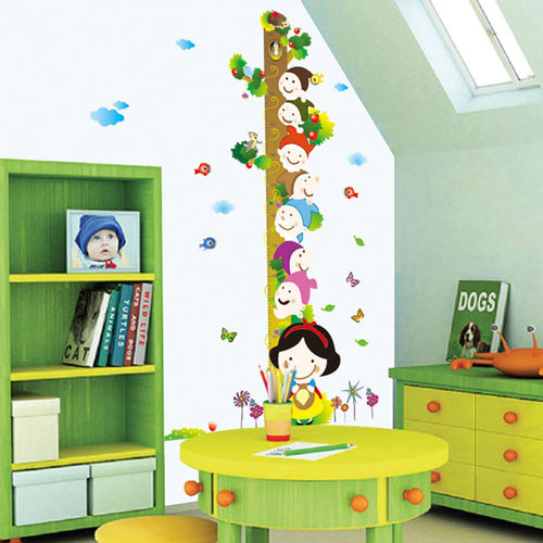 Snow White Height Measure Removable Wallsticker