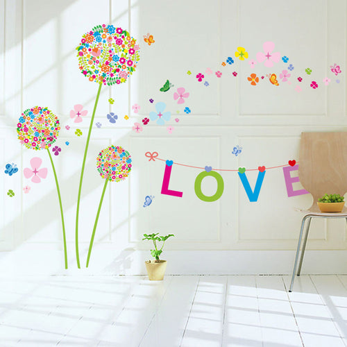 Dandelion Love removable Wallsticker