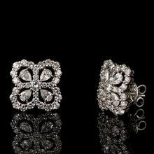 Load image into Gallery viewer, Contemporary Diamond Stud Earrings