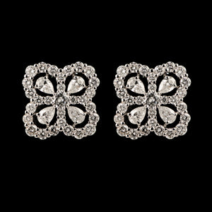 Contemporary Diamond Stud Earrings